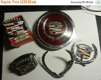 Spring Sale Vintage Cadillac Crest Hood Ornament Collection