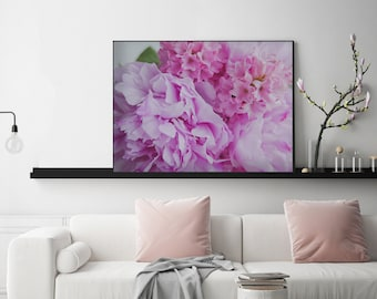 Pink Peony Photo Art | PRINTABLE art, pink, for her, bedroom decor, art, house decor, kids room, colourful, fun art, bright pink, flowers