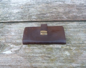 Vintage Antique 1900/1930s  French  thin leather wallet