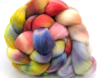 Hand dyed Polwarth & Nylon blend Combed Wool Top Superwash Sock Knitting Yarn 100g PN06