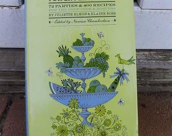 Vintage Menus For Entertaining Cookbook Hardcover