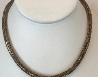 Bronze Beaded Necklace