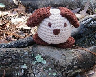 Petunia Puppy.  Amigurumi Crochet Dog.  Stuffed Animal Toy Dog. Roly Poly Puppy Dog. Kid's Gift. Baby Gift. Toybox Toy. Playtime Puppy Dog