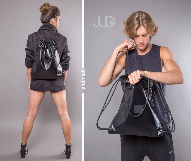 Black backpack multiway handbag sack bag SALE black
