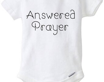 Answered Prayer baby shower gift baby girl onesie baby onesie funny baby onesie baby clothes funny onesies baby girl custom personalized