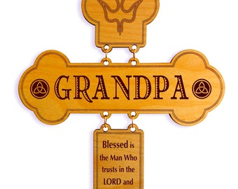 Fathers Day Gift - Gifts for Grandpa Personalized - Grandpa Birthday Gift - Father's Day Gift - Wall Cross