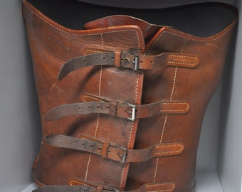Antique French Leather Medical Corset