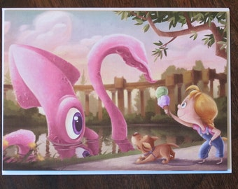 Palace of Fine Squids | Blank 5x7 Greeting Card | San Francisco Palace of Fine Arts | Flimflammery