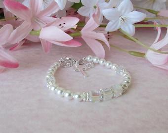 Baby Bracelet Baptism Gift  Baby to Bride®   Bracelet with attached Extender BTB32