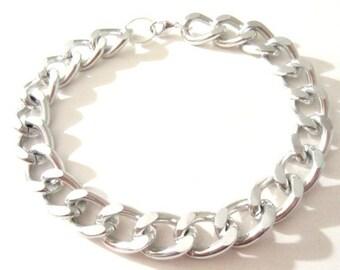 Chunky Chain Bracelet. Silver Chain Bracelet. Chain Link Bracelet. Chain Jewelry