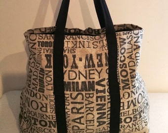 Carry on Bag, Travel Tote, Shopping Bag, Tote