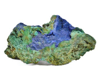 Azurite with Malachite from Touissit, Morocco 06A