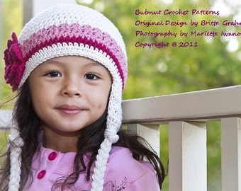 Crochet Hat Pattern - Easy Peasy Earflap Hat Crochet Pattern No.603 Unisex NINE Sizes from Newborn to Adult English