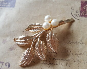 Leaves hair clip ~ gold ~.