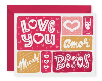 Besos A2 Greeting Card