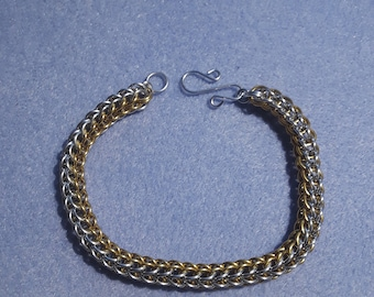 Custom Handmade Full Persian Weave Chainmaille Bracelet