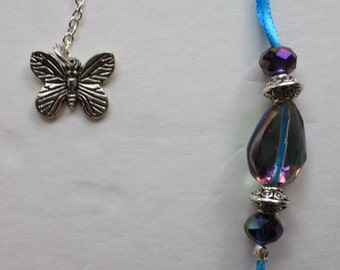 Butterfly Bookmark, Blue, Charm