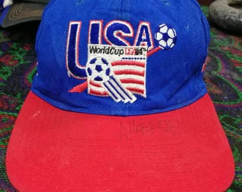 vintage WORLDCUP USA strapback  made in taiwan r.o.c