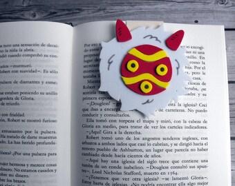 Princess Mononoke mask Magnetic bookmark Anime gifts Bookish gifts Ghibli studio Movie anime Hayao Miyazaki Anime bookmark Mononoke hime