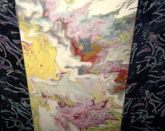 Sun Shine - 10x20 - Acrylic & Resin on canvas