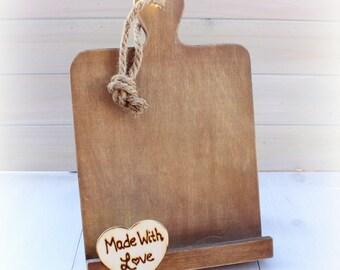 Kitchen Cookbook Stand,  Cookbook Holder, iPad Holder, Recipe Stands,  Recipe Holder, Personalized Wedding Gift, Christmas Gift, Magnolia