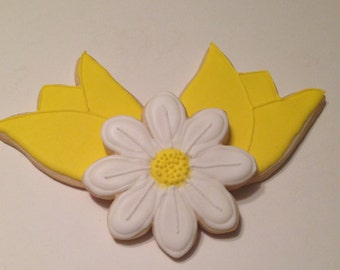 Daisy and Tulip Sugar Cookies