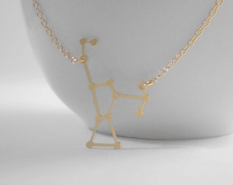Orion Constellation Necklace, Constellation Necklace, Orion Charm, Astrology, Stars