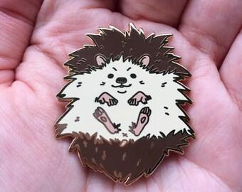 Melvin the hedgehog hard enamel pin / lapel pin 42mm