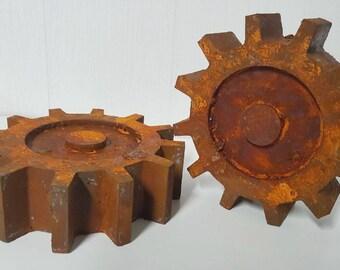 Gear Wall Art, Steampunk Wall Decor, Rusty Gear, Gear Wall Decor, Gear Art, Man Cave Decor, Garage Decor,