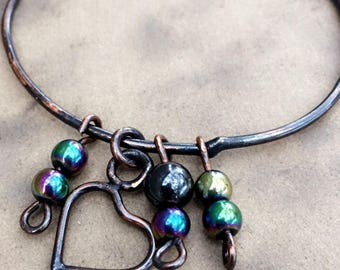 Copper Charm Bangle