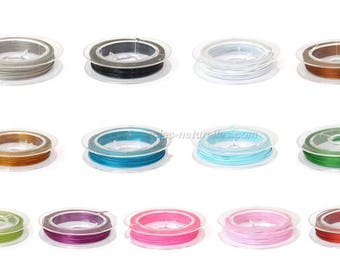 Wire - 10 m - choice of color - 0.45 mm