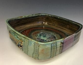 8 inch Square handled  Casserole / Baking Dish