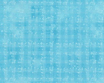 Row by ROW Experience - Timeless Treasures - Per Yard - 2018 Row by Row - Sew Musical designed by Debra Gabel - Music notes on aqua or blue