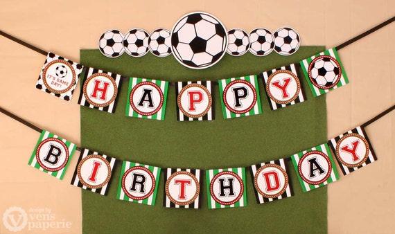 soccer birthday party diy printable happy birthday banner