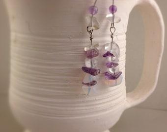 Sterling Silver Gemstone Earrings. Custom Silver Earrings. Custom Earrings.