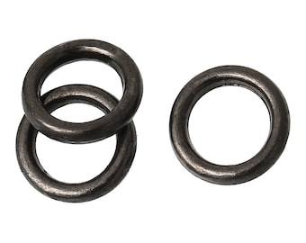 Closed, Soldered Jump Rings, 6mm, Gunmetal Finish, 50 count (JRC-6-GM)