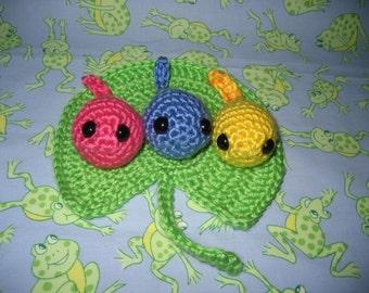 Rainbow Tads Amigurumi Crochet Pattern Instant Download