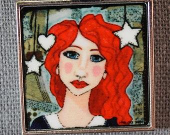 She Art Pendant - Brittany