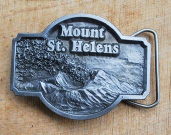 Vintage Mount St. Helens Belt Buckle 1980 Siskiyou Buckle