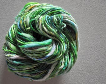 Earth & Sky.  Handspun vegan yarn WOOL FREE vegan cashmere