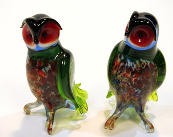 decorative owl from glass, owl forest Stanislaus