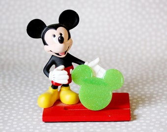 Mickey Mouse Brooch - Lime Green Mickey Brooch