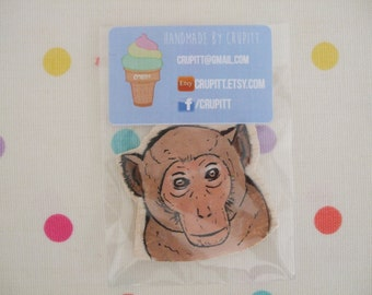 Monkey Magnet - Monkey Fridge Magnet - Handmade Magnet - Handpainted Magnet - Decorative Magnet - Monkey gift