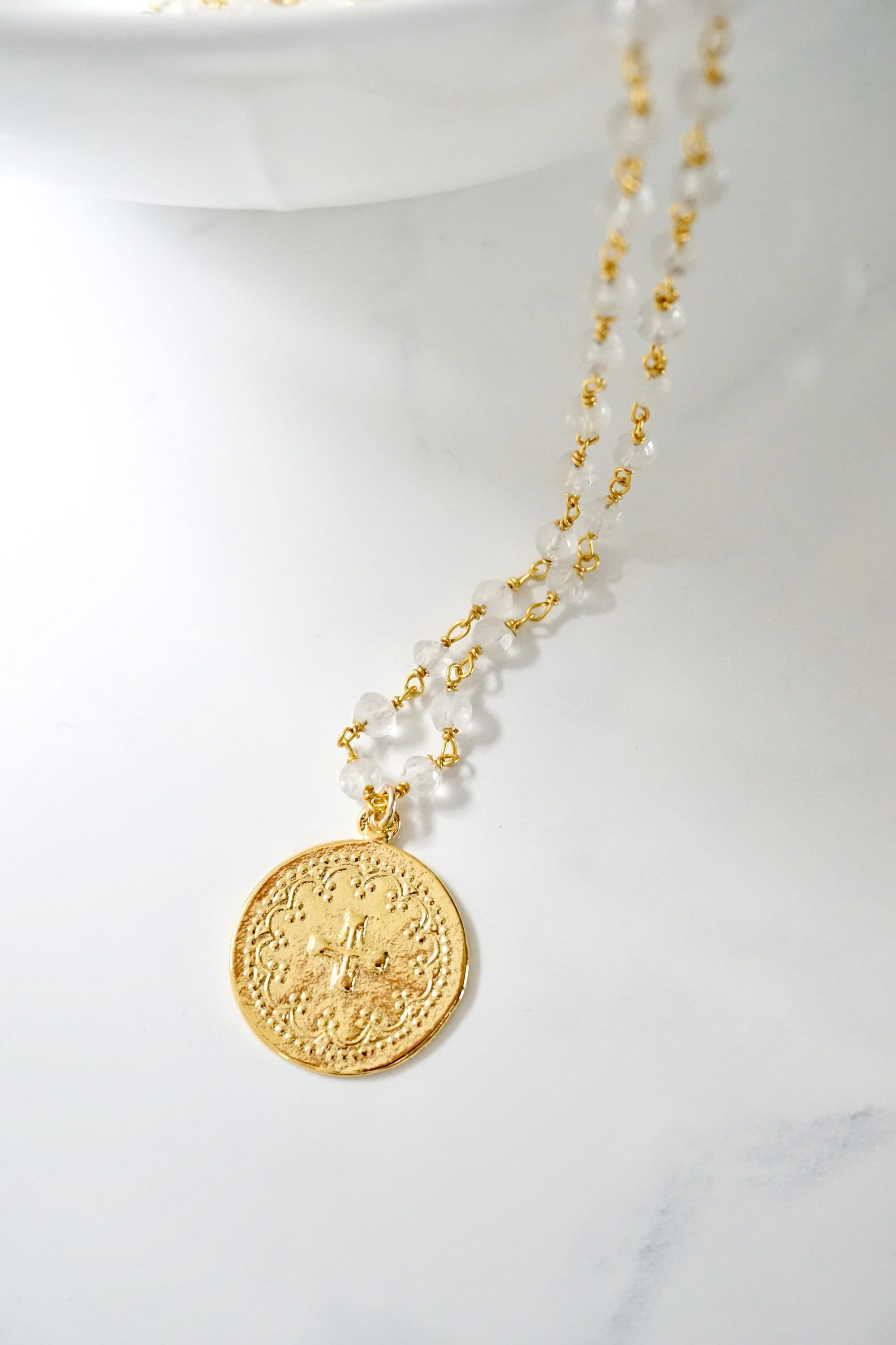 listing necklace everyday popular pendant il large disc medallion silver jewelry cross gold fullxfull modern round boho