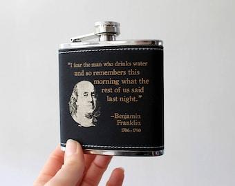 Flask | BENJAMIN FRANKLIN quote