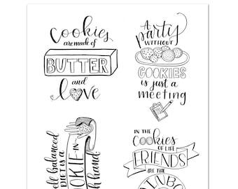Digital Download Cookie Cards