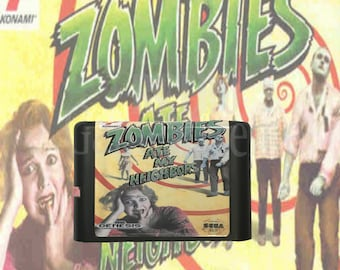 Zombies Ate My Neighbors fan made reproduction cartridge Sega Genesis / Mega Drive