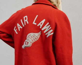 AMAZING 1950's Red Letterman Jacket