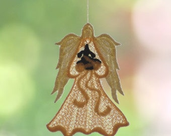 Angel of Light Fur Baby Dog Lace Orniment/Decore - I will custom make this