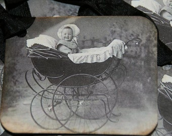 Vintage Baby Gift or Baby Shower Tags